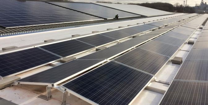Solar panels at CSW Madison